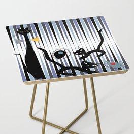 Mid-Century Modern Art - Cat & Kittens Side Table