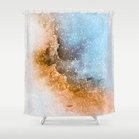 wizard Shower Curtains featuring Wizard Nebula by The Mute Robot Gallery