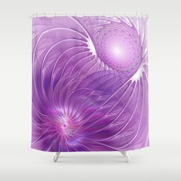 Protection, Abstract Fractal Art Shower Curtain