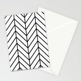 Herringbone White Stationery Cards