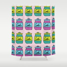 Warhol Soup Cookies Shower Curtain