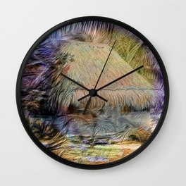 Mexico Hut Focal point Wall Clock