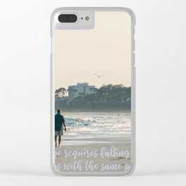 Love Quotes Clear iPhone Case