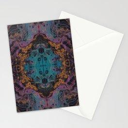 Contrast Fluid Art Pattern 1 Stationery Cards