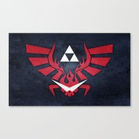 gurren lagann Canvas Prints featuring The Legend of Lagann by Bozzman