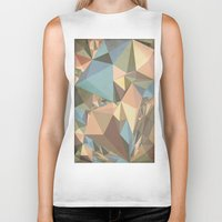 renaissance Biker Tanks featuring Renaissance Triangle Pyramids by Kanika Mathur Design