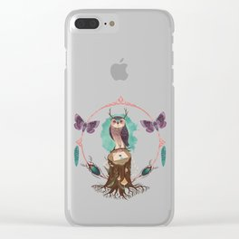 Enchanted Woodland Secret Keeper And Dream Catcher Clear iPhone Case