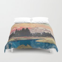 Storms over Keiisino Duvet Cover