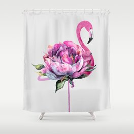 Flower Flamingo Shower Curtain