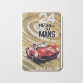 1963 Le Mans poster, Race poster, car poster, garage poster Bath Mat