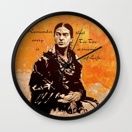 FRIDA KAHLO - the mistress of ARTs - quote Wall Clock