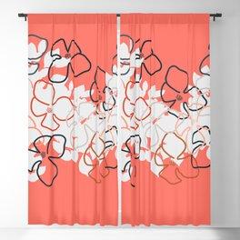 Coral Geraniums Blackout Curtain