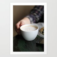 latte break.  Art Print