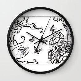 Releasing Butterflies Wall Clock