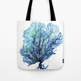 Fan Coral - Aqua Tote Bag