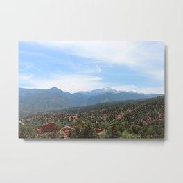 Spectacular View of Pike's Peak Metal Print