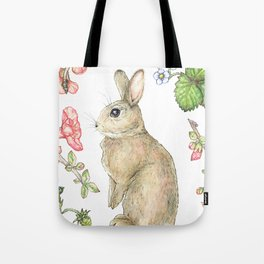 Floral Bunny Tote Bag