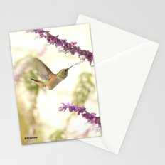 Ms. Hummingbird Checks Another Nectar Source Stationery Cards