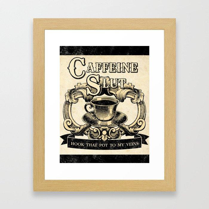 For the love of Caffeine Framed Art Print
