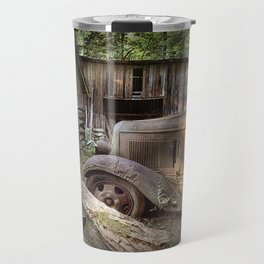 Old Farm Pickup Truck in the Smoky Mountains in Tennessee Travel Mug