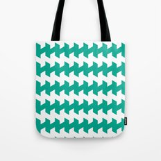 jaggered and staggered in emerald Tote Bag