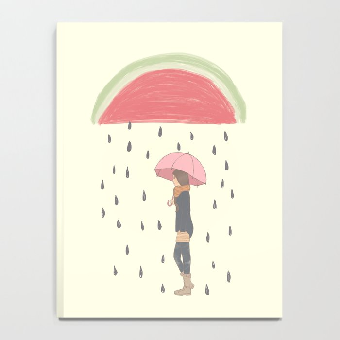 Raining Watermelon Seeds Notebook