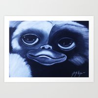 gizmo Art Prints featuring GIZMO by John McGlynn