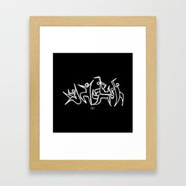 Fiesta ritual Framed Art Print