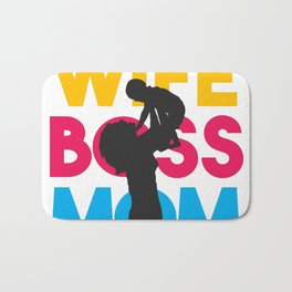 Wife Mom Boss Mothers Day Gift - Shirt Bath Mat