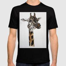 Giraffa camelopardalis MEDIUM Black Mens Fitted Tee