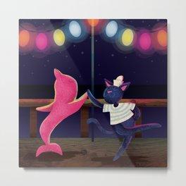 Maorice the Sailor Cat Metal Print