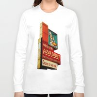 pizza Long Sleeve T-shirts featuring Pizza by Hazel Bellhop