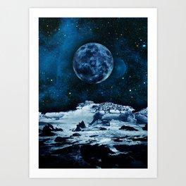 Blue Traveler Art Print