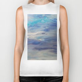 Ethereal Skies - Abstract Acrylic Art by Fluid Nature Biker Tank