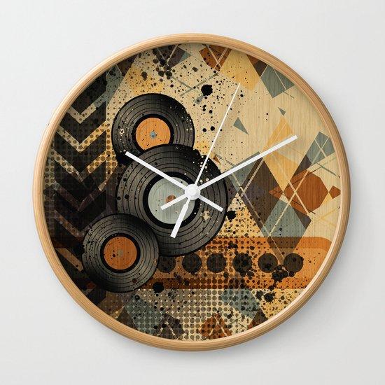 Retro Vinyl. Wall Clock