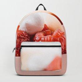 Macaron And Strawberry Birthday Cake, Delicious Photo, Birthday Party, Anniversary Celebration, Art Backpack