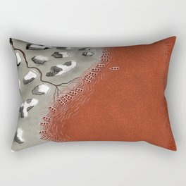 Birds eye View over Red River Salt mines Rectangular Pillow