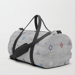 Cactus Silk Pattern in Grey Duffle Bag