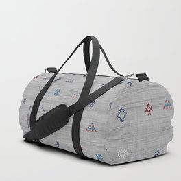 Cactus Silk Pattern in Grey Duffle Bag