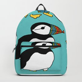 Kissing Puffins Backpack