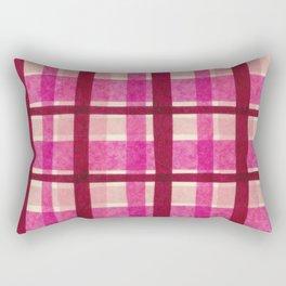 Tissue Paper Plaid - Pink Rectangular Pillow