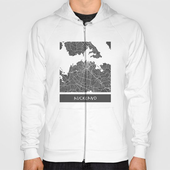 Auckland Map Hoody