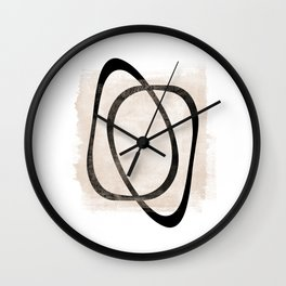 Interlocking Two AA - Minimalist Line Abstract Wall Clock