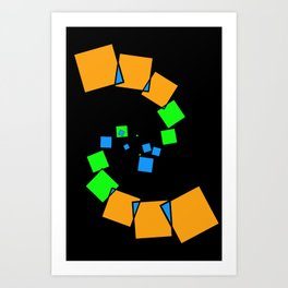 moving squares -05- Art Print