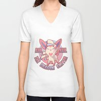 sylveon V-neck T-shirts featuring All Hail Sylveon by Solis