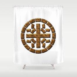 Really Big Moth Symbol Shower Curtain