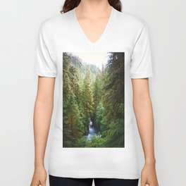 Evergreen River Unisex V-Neck