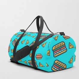 fast food blue Duffle Bag