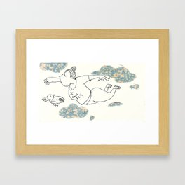 I can fly-2- /things for songs Framed Art Print
