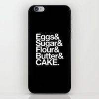 cake iPhone & iPod Skins featuring Cake by Outside In